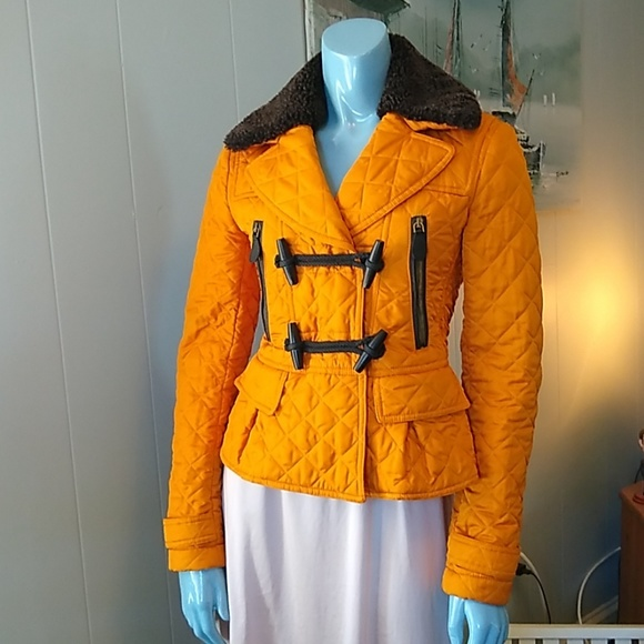 Burberry Jackets & Blazers - ❤️ Vintage Burberry Quilted Mustard Field Jacket